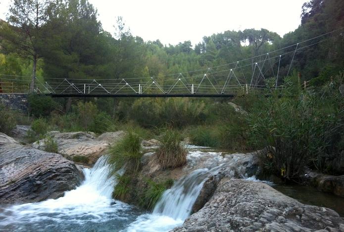 Puente colgante en Lucena del Cid, Castellón