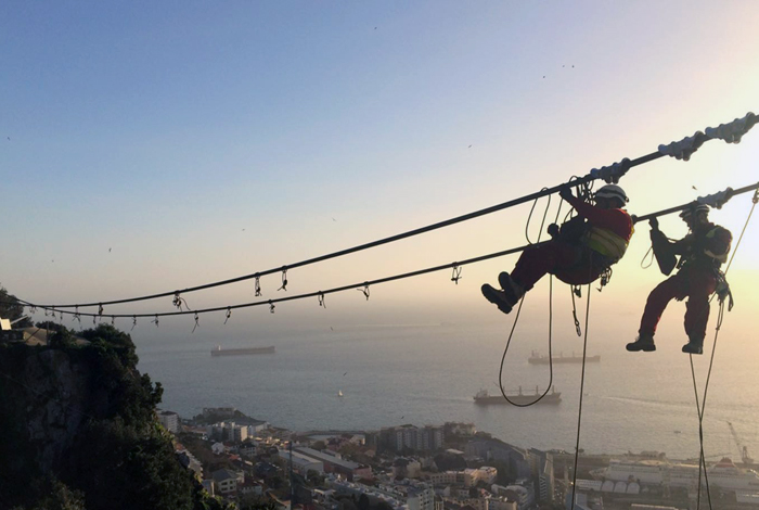 Suspended Bridge in Gibraltar, UK
