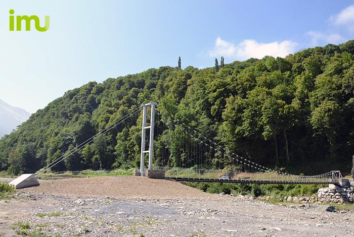 pont suspendu du Saligos, France