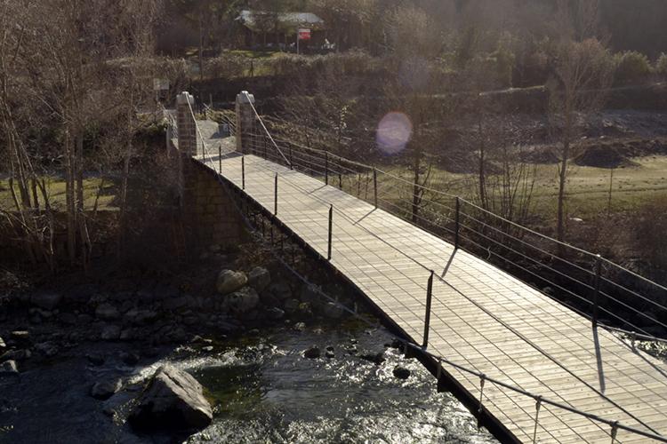 Pont penjant de Baró, Pallars Sobirà, Lleida