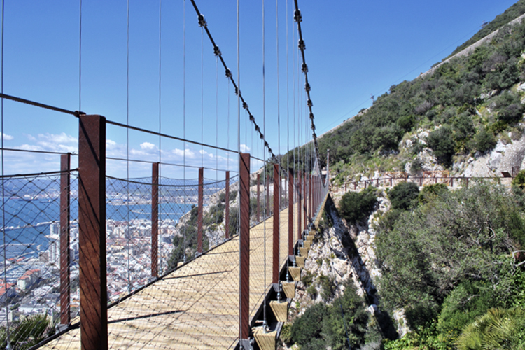 Windsor suspended bridge in Gibraltar