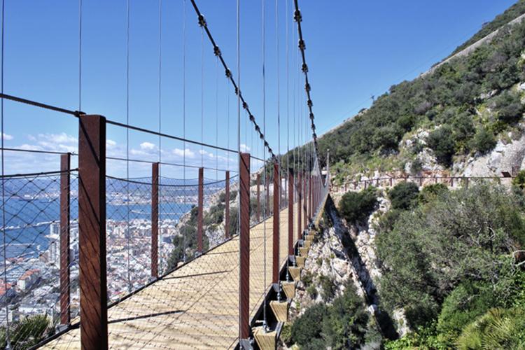 Windsor suspended bridge in Gibraltar