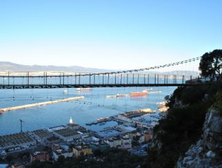 "Official inauguration of the ""Windsor"" suspended bridge in Gibraltar"