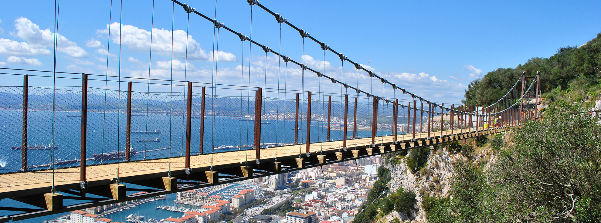 Windsor Suspended Bridge in Gibraltar, UK