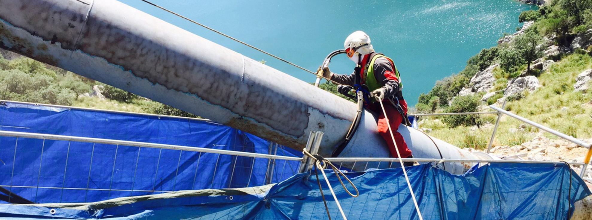 Mantenimiento tuberías forzadas hidroeléctricas Es Gorg Blau, Mallorca
