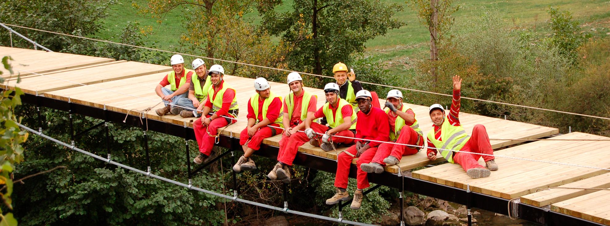 Equipo Puentes Colgantes de iMuntanya