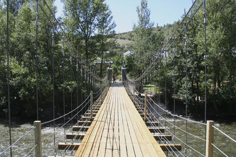 Pont penjant de Rialp, Lleida