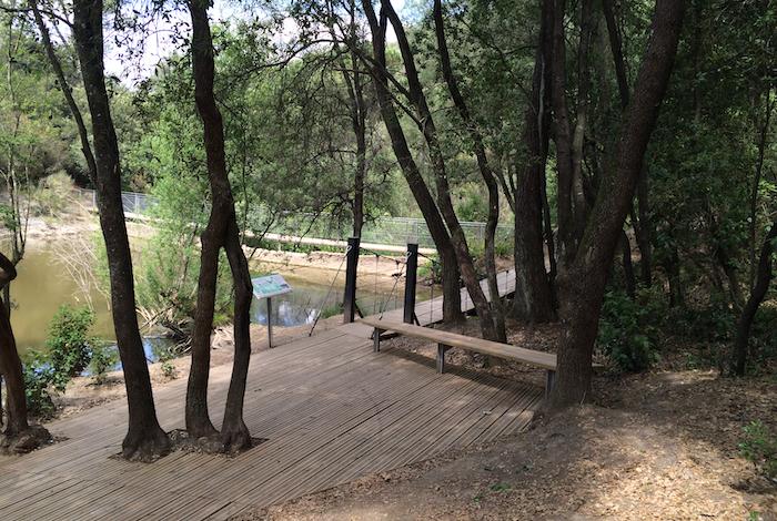 Passarel·les suspeses al Pantà de Can Borrel, Parc de Collserola