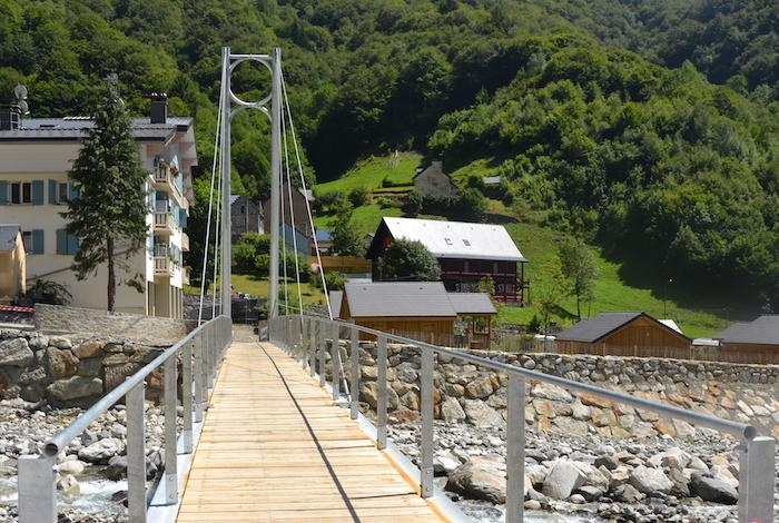 Pont suspendu de La Ribère, France