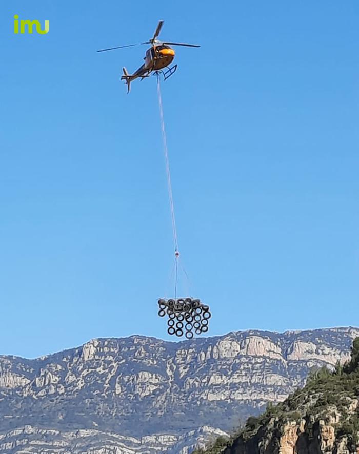 Transport per helicòpter de la protecció de comboi i vies ferroviàries